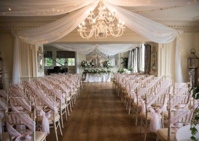 Wedding room at Eaves Hall